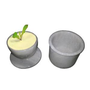 JT Handmade Marble Butter Dish Cover Pot / French Butter Crock Keeper
