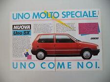 advertising Pubblicità 1984 FIAT UNO SX