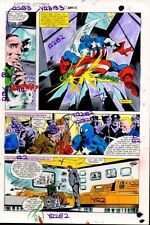 Original Captain America Annual 5 Marvel color guide art page: Colan/Marvelmania