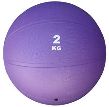 DISCOUNTED BOUNCE SLAM MEDICINE BALL 2KG (4.4 LBS) PURPLE BOUNCING WEIGHTED 2 KG