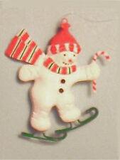 1990s Mint Department 56 Skating Snowman Christmas Ornament - Festive - Save 20%