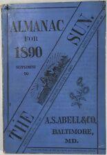 Baltimore Sun Maryland Almanac 1890