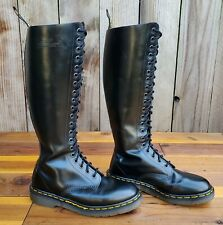 💥Dr. Martens Doc England MIE Rare Vintage Black Leather 20 Eye Boots UK5 US7💥