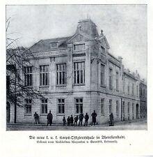 NUOVA K. U. K. corpo-Ufficiale Scuola in Theresienstadt A. V. Grandis bildd. 1908