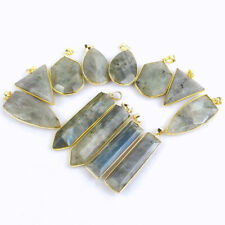 All Shapes Faceted Natural Labradorite Gemstones Crystal Healing Pendant Beads