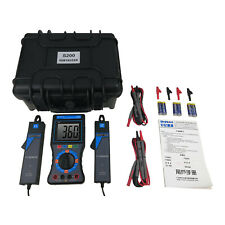 H●SHANYI S200 Double Clamps Digital Phase Volt Ampere Meter New