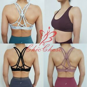 FITINCLINE Women's Complex Sports Bra Top Gym Yoga Activewear Fitness Training