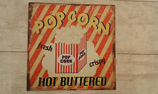 Blechschild Popcorn