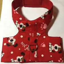 I Woof You Red Handmade Dog Harness Vest XL (1291)