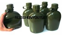 4 NEW US Military 1 Quart Plastic COLLAPSIBLE OD CANTEEN 1QT BPA FREE 4 PACK
