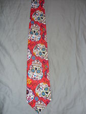 Red Sugar Skulls Neckties # 2070