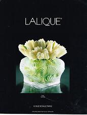 PUBLICITE ADVERTISING 084  1994  CRISTAL LALIQUE  vase HUTAN