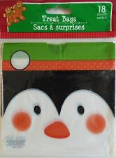 New CHRISTMAS CELLO PARTY GIFT BAGS 18 Count TREAT BAGS with Drawstring ~Penguin