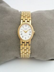 ROTARY WOMENS WATCH 3665 VINTAGE GOLD STAINLESS STEEL BRACELET GENUINE
