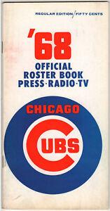 1968 Chicago Cubs Baseball Media Guide Fergie Jenkins Ron Santo Ernie Banks '68