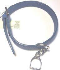 Ralph Lauren Blue Leather Dog Collar Purple Label One Size