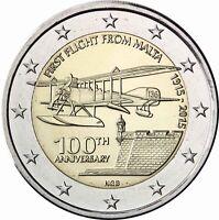 Malta 2 Euro 2015 Erster Flug Bankfrische Sondermünze