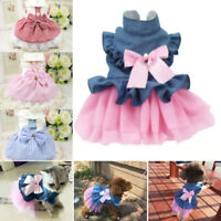 Pet Puppy Small Dog Lace Princess Tutu Dress Skirt Clothes Apparel Costume Cute