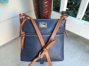 Dooney & Bourke navy pebble leather small crossbody bag