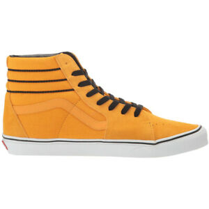 "Vans ""Sk8-Hi Sport Stripes"" Sneakers (Cadmium Yellow/Black) Skate High-Top Shoes"