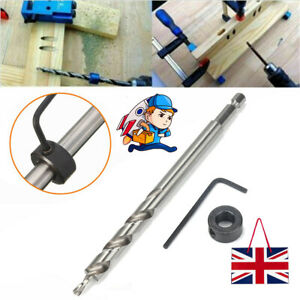 Hex Twist Step Drill Bit Wrench Tool For Pocket Hole Drill Jig Guide 9.5mm UK