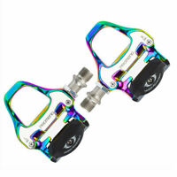 😀 Rainbow Road Sealed Pedals w Shimano Compatible SPD-SL Cleats Style SRAM