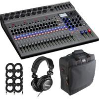 Zoom LiveTrak L-20 - 20-Input Digital Mixer & Multitrack Recorder + Gator Cas...