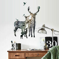 Reindeer Deer Family Wall Stickers Vinyl Decal Kids Decor Gift Art Mural