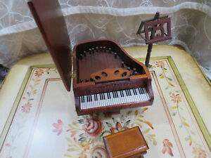 1:6 Scale Wooden Piano W// Stool Musical Instrument Dollhouse Accessories Toy #1