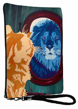 Cat Pouch Wristlet with detachable strap - From my orginal Painting