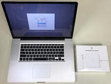 "Apple MacBook Pro 17"" Glossy A1297 2.5GHz Core i7 8GB RAM 1TB HDD 10.13 1GB GPU"