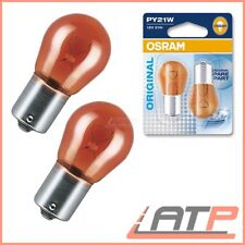 2x OSRAM py21w 21w ultra Life Jaune Ampoule Lampe Clignotant Lampe Ampoules