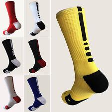 New Men Cotton Cushioned Crew-Athletic Dri-Fit Basketball Football Sports Socks