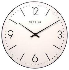 Nextime Horloge Murale Basique Dome Ø35 ,6cm Silencieux Salon Küche Montre