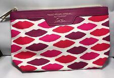 New Estee Lauder Pink/Red/Purple Lips Cosmetics Makeup Travel Bag - Ships Free!