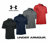 UNDER ARMOUR POLO UA 2019 TECH SHIRT HEATGEAR PERFORMANCE MENS GOLF POLO SHIRT