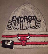 NBA CHICAGO BULLS NEW ERA CRISP N COZY BEANIE MENS ADULT HAT GREY 80502657 NEW