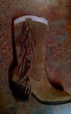Women's Matisse / El Paso / Square Toe Suede Tan Mid Calf Boot Size 6