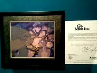 LITTLEFOOT,ROOTER LAND BEFORE TIME BLUTH STUDIOS KEY PRODUCTION CEL SETUP,FRAMED