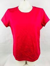 Apostrophe Stretch Women's T-Shirt LW/GM Pink Short Sleeve Solid Shirt (FL2