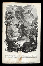 santino incisione 1800 S.FRANCESCO D'ASSISI RICEVE LE STIMMATE