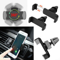 Universal 360°Rotating Car Air Vent Mount Cradle Holder For Mobile Phone BF