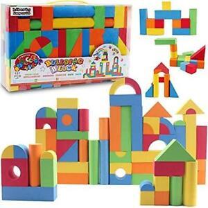 131 Piece Foam Building Blocks - Creative Educaitonal EVA Foam Bricks Toys