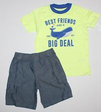 Carter's Toddler Boy Best Friends Whale Tee & Shorts Set Size 5T