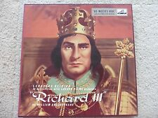 Laurence Olivier, WHITE LABEL TEST RECORD, Richard III Box Set, ALP1341,2,3