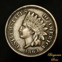 1863 Indian Head Penny 1c 032521-*20E Free Shipping!