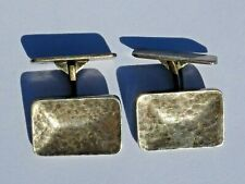 Manschettenknöpfe 835 Silber 19 x 13 mm Herren antik 1900 Hammerschlag Handarbei
