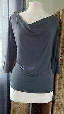 Boat Neck Patternless Formal Tops & Shirts for Women