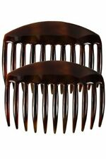 Caravan French Tooth Back Comb Tortoise Shell Pair, Large, .65 Ounce
