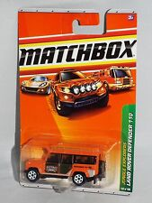 Matchbox Diecast 2010 Jungle Explorers #100 Land Rover Defender 110 Orange